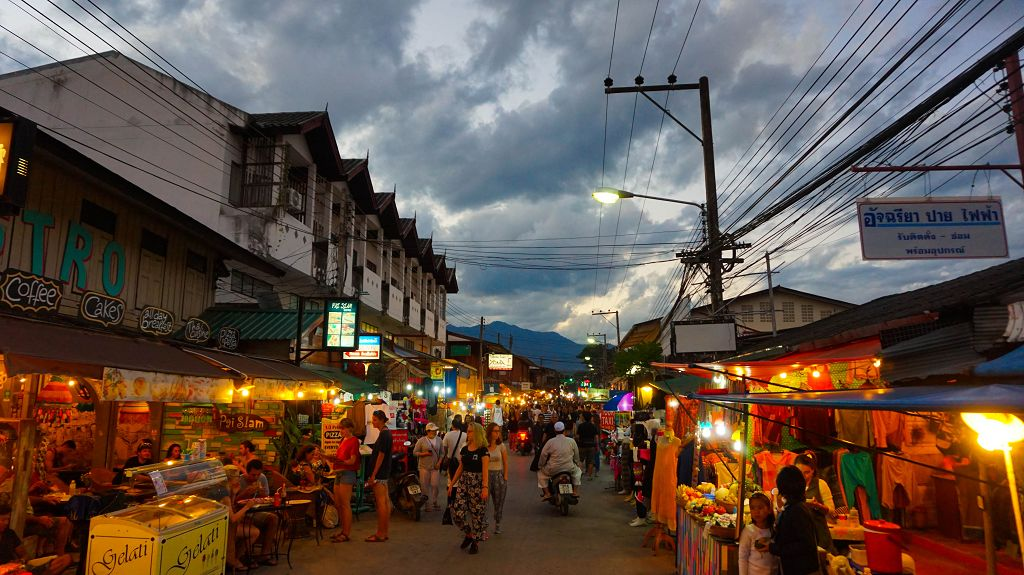 Walking Street in Pai Thailand