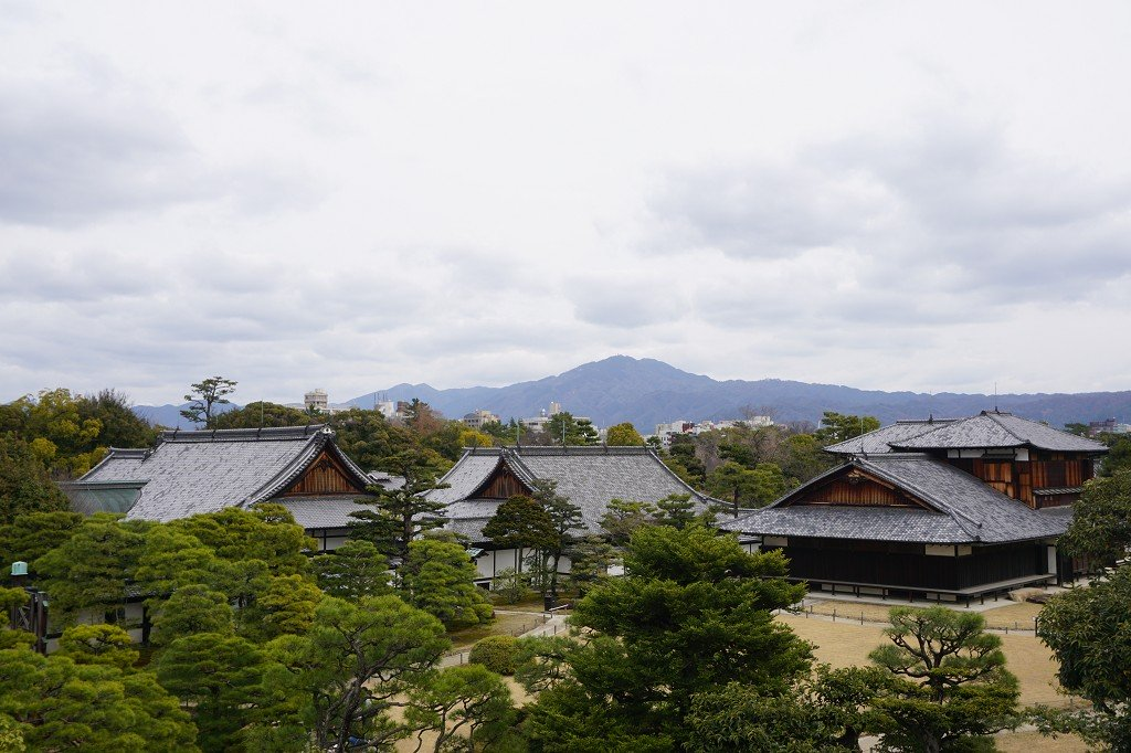 Parkanlage Nijo Castle in Kyoto Japan