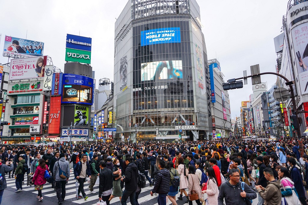 Shibuya Crossing bei Tag