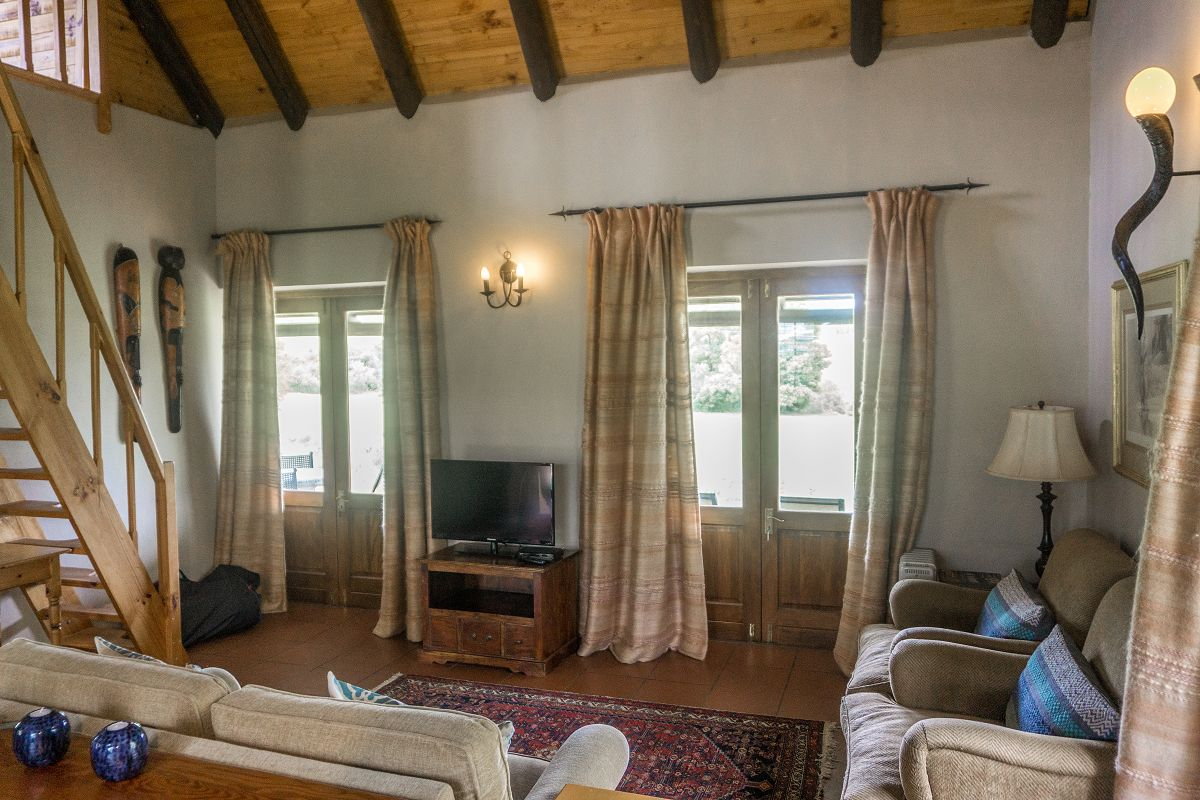 Wohnraum im Zebra Cottage and Lodge