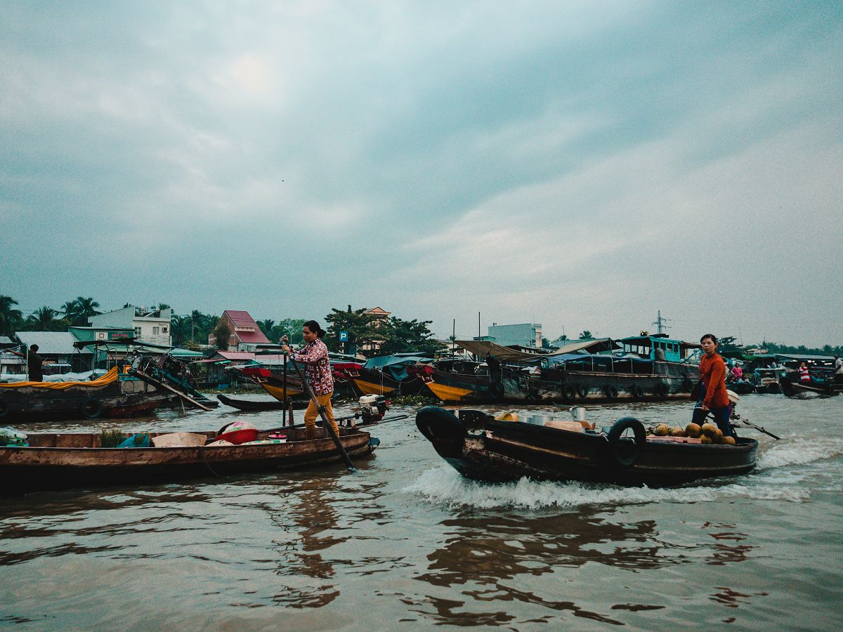 Der Floating Markt in Cai Rang Vietnam