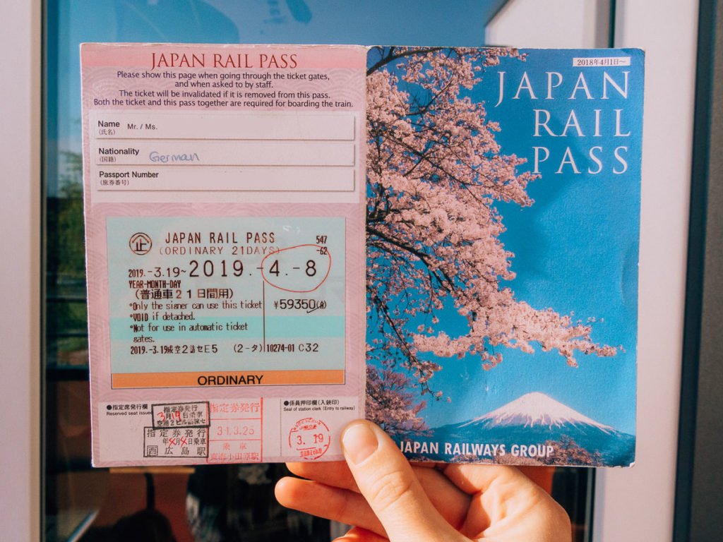 Japan Railpass Ticket
