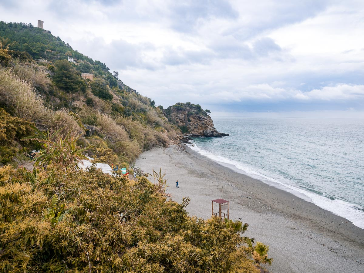 Playa de Maro in Nerja Spanien