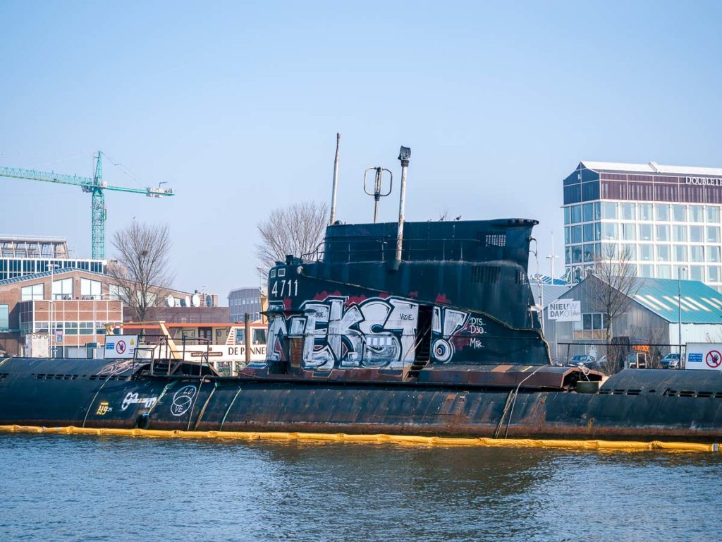 U-Boot in der NDSM Werft in Amsterdam
