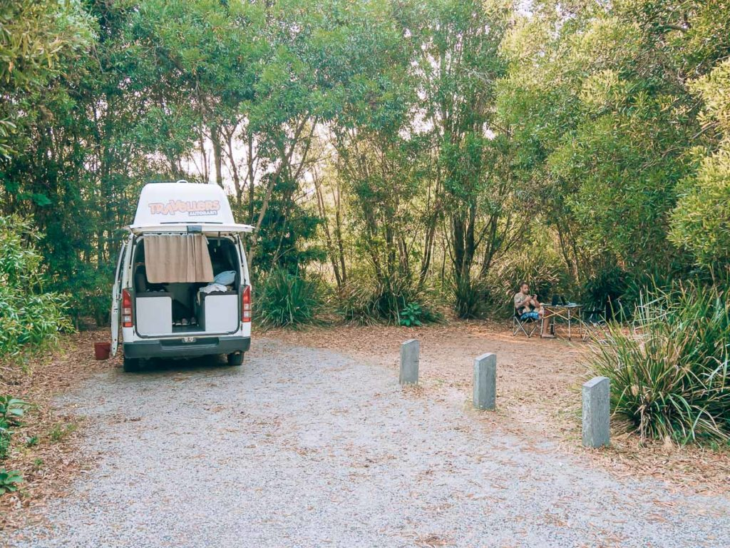 Unser Campingstellplatz im Springbrook Nationalpark