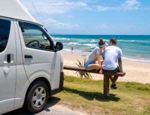 Direkter Parkplatz am Shelly Beach