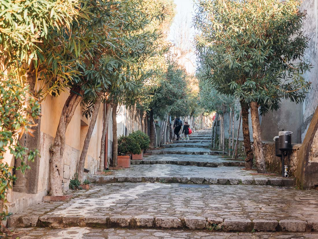 Steile Gasse in Ravello
